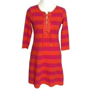 C Wonder Dress Size XXS Pink Orange Striped
